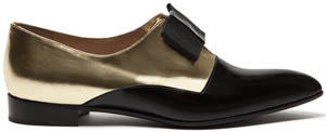Alberto Guardino Collyn lace-ups in patent leather and and calfskin: €442.