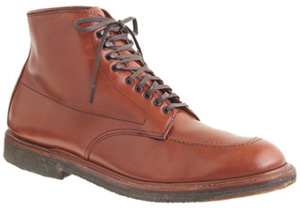 Alden for J.Crew 405 burnished tan Indy boots: US$553.