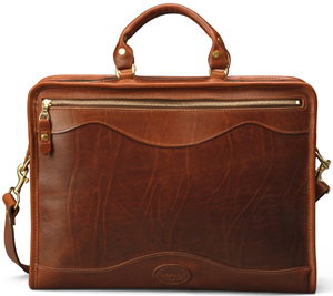Perfectly Worn Vintage Brown Leather Briefcase Attache Case by Winn with Hand Straps Aged Leather Briefcase