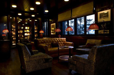 Cigar Lounge at hotel The Alpina, Alpinastrasse 23, CH-3780 Gstaad, Switzerland.