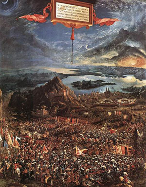 The Battle of Alexander at Issus (1529) by Albrecht Altdorfer.