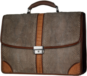 Angelo Galasso snakeskin briefcase: £3,350.