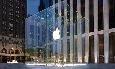 Apple Flagship Store, 767 5th Avenue, New York City, NY 10153.
