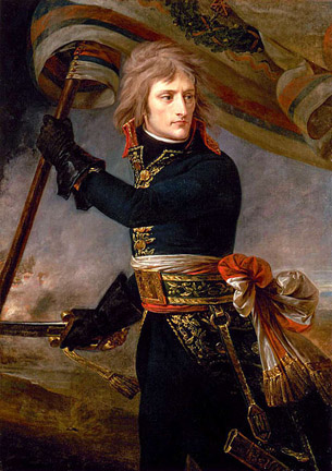 Bonaparte at the Pont d'Arcole (1796) by Antoine-Jean Gros.