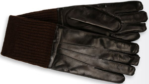 Giorgio Armani men's gloves in lambskin and cashmere: US$625.