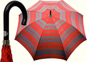 Giorgio Armani Logo Grande red umbrella: US$124,50.