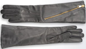 Giorgio Armani women's long napa leather gloves with zip: US$1,445.