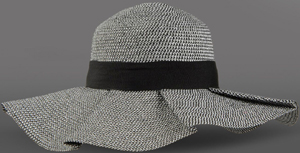 Emporio Armani Two-tone pattern, Wide brim, Logo detail, women's hat: US$137.