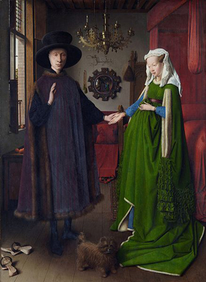 Arnolfini Portrait (1434) by Jan van Eyck.
