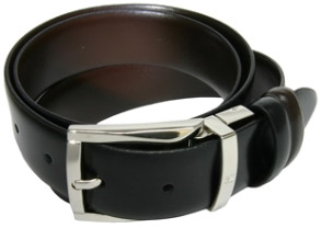 Ascot Chang Black Calfskin Belt: HKD 1,195.