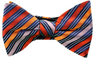 Ascot Chang Orange Red Split Stripe Bowtie: HKD 375.