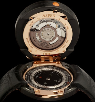 Aspen One Black Piste Rosé Gold DLC Black Diamond Coating.