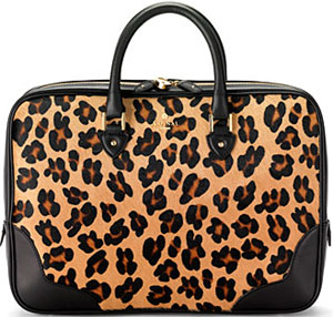 Aspinal of London Leopard Haircalf with Smooth Black Women's Mount Street Business Bag: £450.