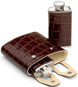 Aspinal of London Double 6oz Leather Hip Flask: €100.