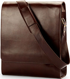 Aspinal Smooth Cognac & Stone Suede Milano Messenger Bag: £450.