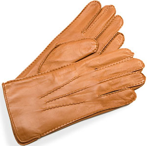Aspinal of London Men's Cashmere Lined Leather Tan Nappa Gloves: £110.