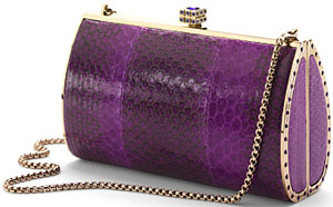 The Aspinal Swarovski Purple Sea Snake Clutch: £695.