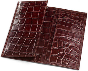 Aspinal of London Slim Breast Wallet Amazon Brown Croc & Stone Suede: £89.