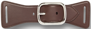 Asprey Scarf Belt Buckle, Ebony Ascot Calf Women's Belt: US$235.