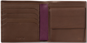 Asprey Billfold with Coin, Ebony Ascot Calf Wallet: US$400.