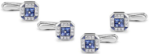 Asprey Sapphire & Diamond Dress Studs: US$13,000.