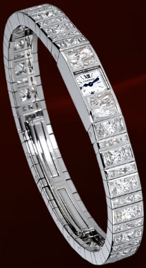 Diamond River Baguette Watch, Cartier High Jewelry Watches.