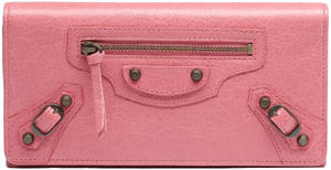 Balenciaga Classic Money Rose Bonbon Wallet: US$495.