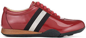 Bally Francisca Women's red patent leather sneaker: US$425.