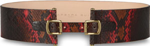 Barbara Bui Double Buckled Python Belt: £283.