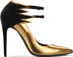 Barbara Bui Flame' Metallic Leather Pumps: £544.