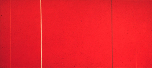 Barnett Newman painting at the Museum of Modern Art, New York City, NY, U.S.A.