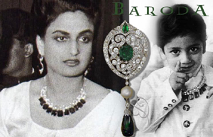 Sita Devi of Baroda with son 'Princie' (1945-1985).