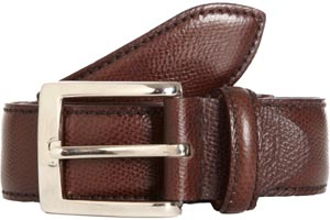Battistoni Grained Dress Men's Belt: US$225.