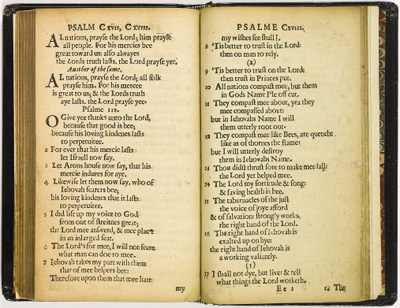 Bay Psalm Book - the world's most expensive printed work at US$14.165.000 mio.