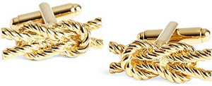 Brooks Brothers Rope Knot Cuff Links: US$245.