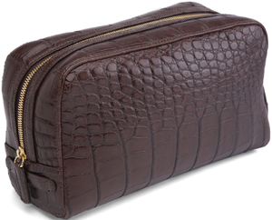 Brooks Brothers crocodile travel kit.