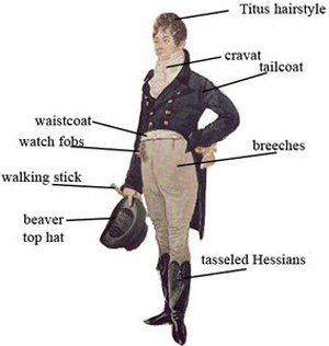 Beau Brummell - (9 June 1780 – 30 March 1840) was an iconic figure in Regency England.