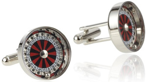 Geoffrey Beene Men's Roulette Wheel Cufflinks: US$24.
