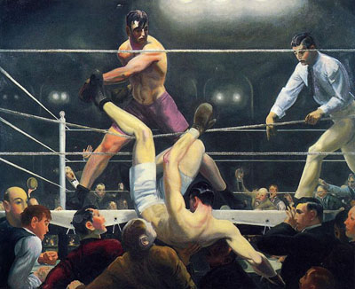 Dempsey and Firpo (1924) by George Bellows.