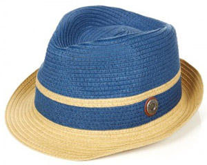 Ben Sherman Navy Blue Colour Block Straw Trilby: £40.