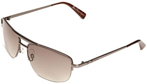 Ben Sherman BEN0220 Aviator Men's Sunglasses Shiny Dark Gunmetal One Size.