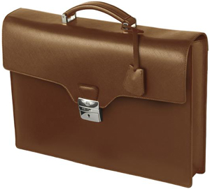 Bentley Leather Briefcase Tan: £550.