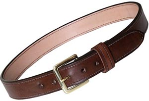 Beretta Hand Crafted Men's Leather Belt, 1 1/2-inch, Dark Brown: US$99.