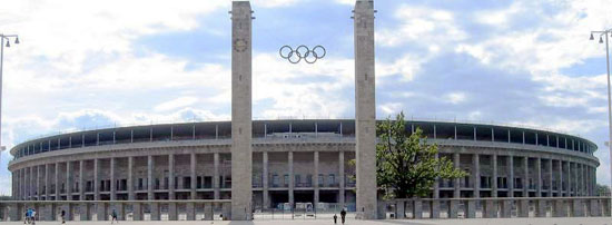 Berlin's Olympic Stadium (1936).