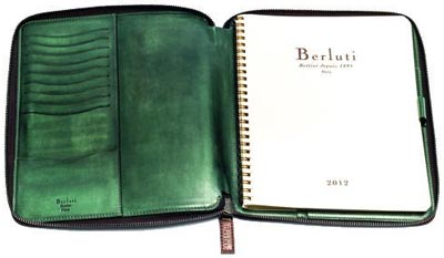 Berluti Zipped Venetian Leather Agenda.