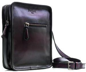 Berluti Journaliste Venetian Leather Men's Bag.