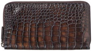 Berluti Idewa Long Zip Crocodile Wallet.