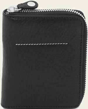 Bill Amberg Black Zip Wallet: £170.