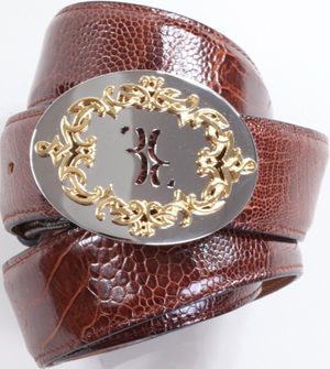 Billionaire Ostrich Leg Men's Belt: US$1,625.