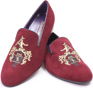 Billionaire Couture Embroidered Suide Slippers: US$1,100.